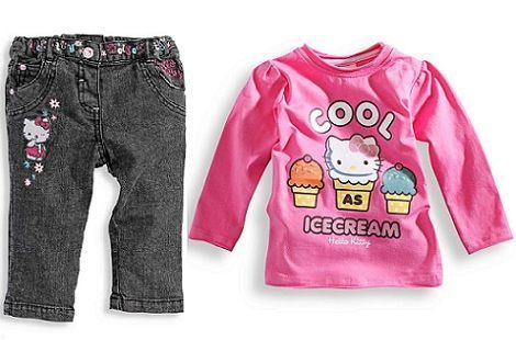 ropa bebe hello kitty jeans