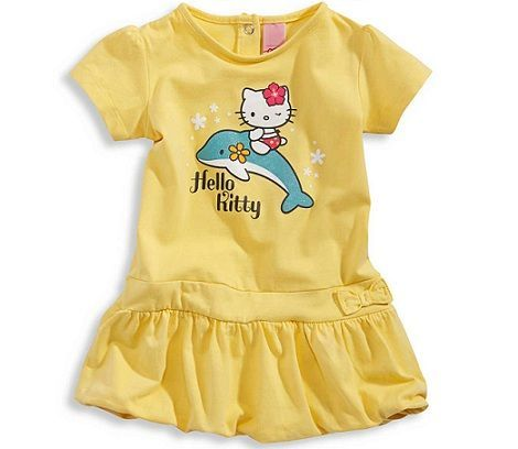 ropa bebe hello kitty vestido amarillo  - Ropa bebé Hello Kitty