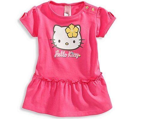 ropa bebe hello kitty vestido rosa