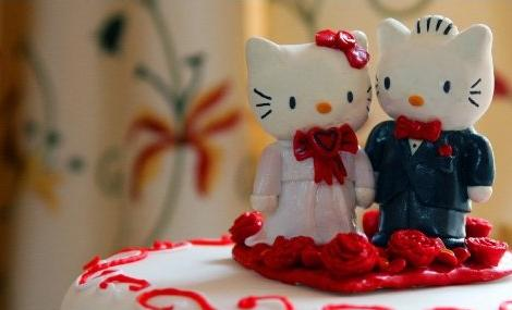 Tarta de boda Hello Kitty