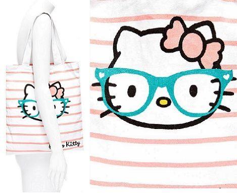 bolso kitty rayas maniqui  - Bolso de Hello Kitty de Blanco