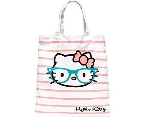 bolso kitty rayas  - Bolso de Hello Kitty de Blanco