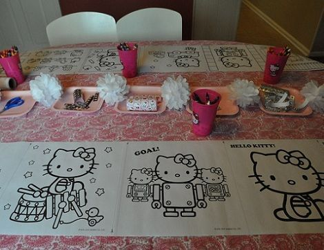 cumple hello kitty dibujos  - Cumple de Hello Kitty