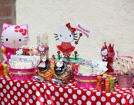 cumpleanos hello kitty jardin mesa