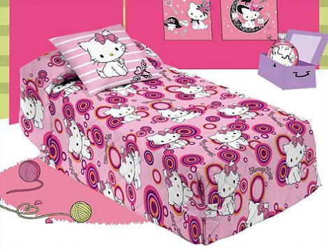 Edredón para niña de Kitty  - Edredones de Hello Kitty