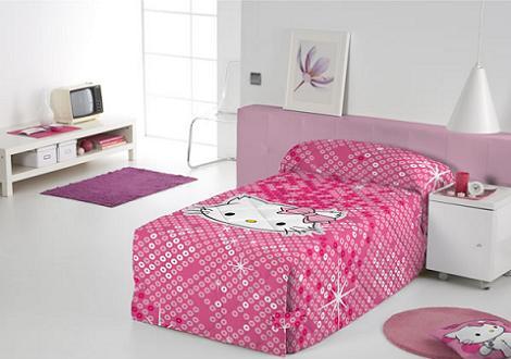 Edredón Charmmy Kitty en rosa  - Edredones de Hello Kitty