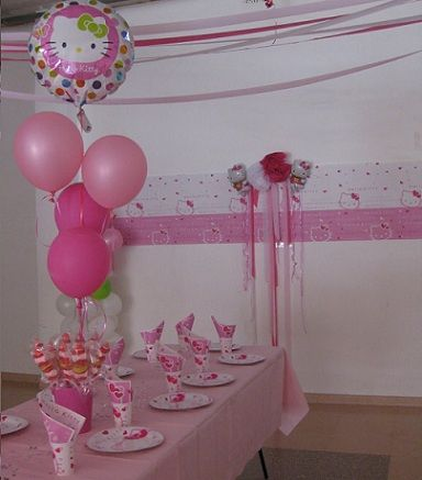 fiesta cumpleanos kitty decoracion