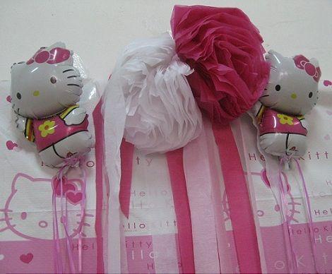 fiesta cumpleanos kitty globos