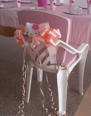 fiesta cumpleanos kitty sillas