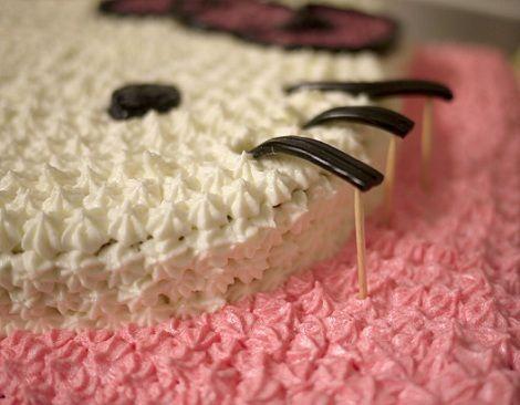 hacer una tarta de hello kitty regaliz
