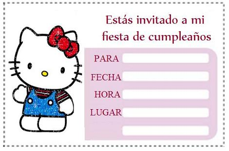 Invitaciones Hello Kitty Gratis Hello Kitty En Mundokitty Com