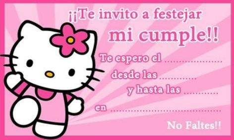 Invitación Kitty