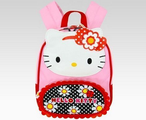 mochilas hello kitty flores