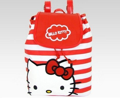mochilas hello kitty rayas  - 5 Mochilas de Hello Kitty