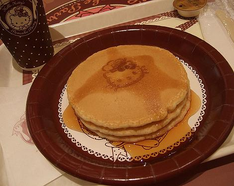 pancakes hello kitty