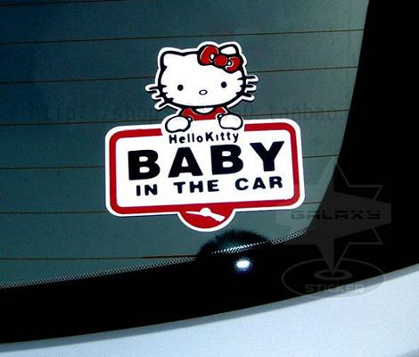 Pegatina coche Hello Kitty