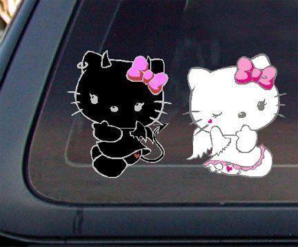 Pegatina coche Hello Kitty  - Pegatina Hello Kitty para el coche