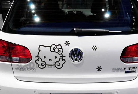 Pegatina Hello Kitty coche