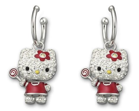 Pendientes Hello Kitty de Swarovski