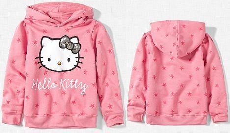 sudadera hello kitty rosa delante detras
