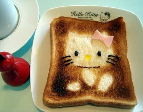 tostada hello kitty