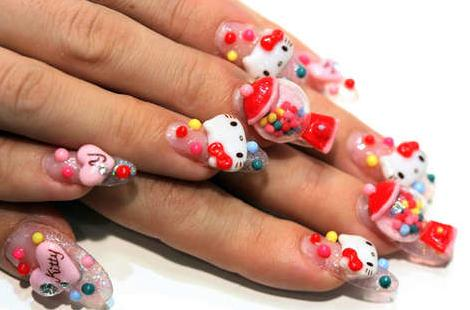 uas hello kitty de gel
