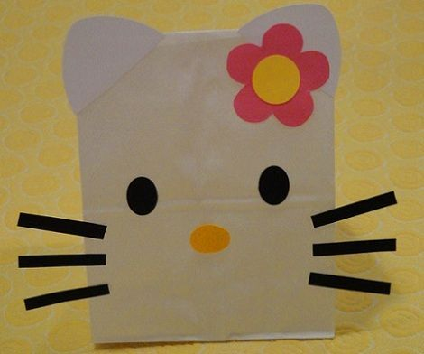 bolsas cumple hello kitty papel  - Bolsas de cumple de Hello Kitty