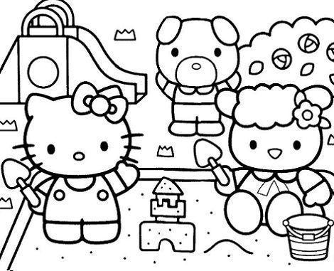 dibujos hello kitty imprimir gratis jugando