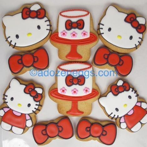 dulces hello kitty cookies