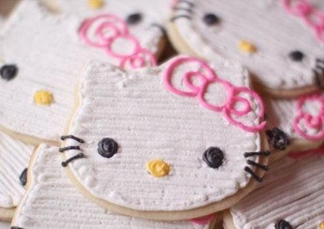 fiesta hello kitty galletas  - Fiesta de Hello Kitty