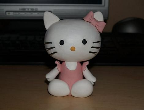 Hello Kitty de porcelana fría