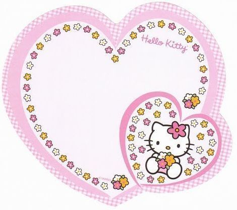 invitaciones hello kitty cumpleanos corazon