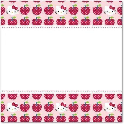 invitaciones hello kitty cumpleanos manzanas  - Invitaciones de Hello Kitty para cumpleaños