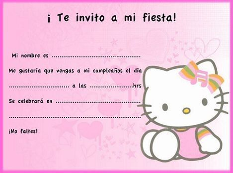 invitaciones hello kitty cumpleanos transparente