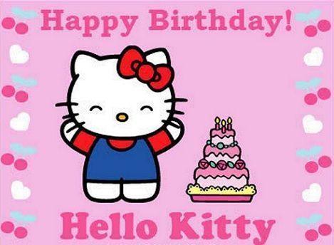 invitaciones hello kitty cumpleanos uno  - Invitaciones de Hello Kitty para cumpleaños