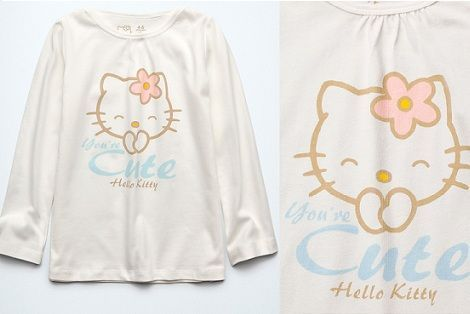 pijama hello kitty zara camiseta