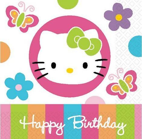Tarjeta de cumpleaños Hello Kitty