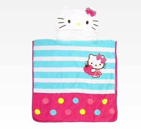 Toalla con capucha de Hello Kitty