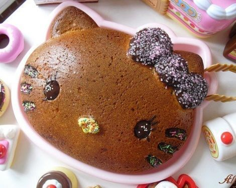 torta hello kitty bizcocho  - Torta de Hello Kitty