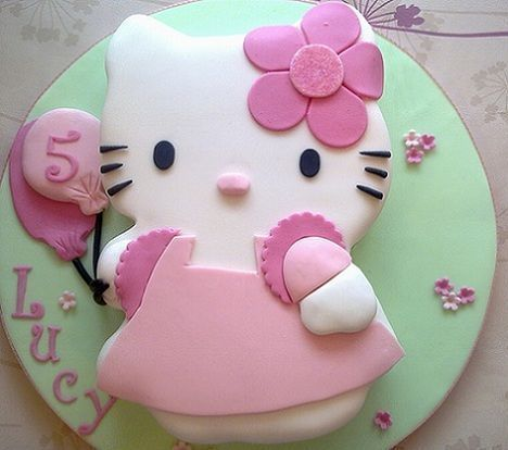 torta hello kitty fondant  - Torta de Hello Kitty