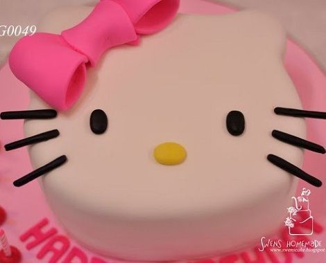 torta hello kitty lazo  - Torta de Hello Kitty