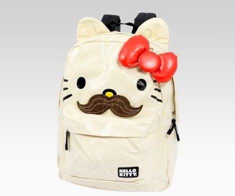 macuto de kitty con lazo y mostacho  - Prepara la vuelta al cole con Hello Kitty
