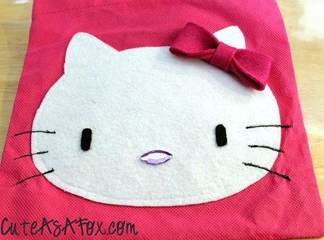 resultado bolso de hello kitty  - Cómo decorar un bolso de Hello Kitty