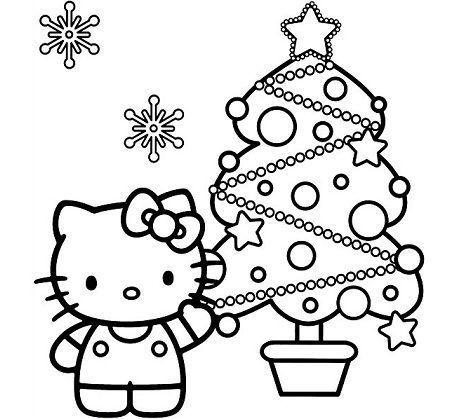 Worksheet. 6 Dibujos Hello Kitty Navidad