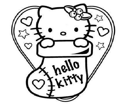 dibujos hello kitty navidad para colorear