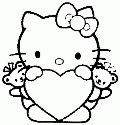 Dibujos dde hello kitty para colorear en el día de la madre