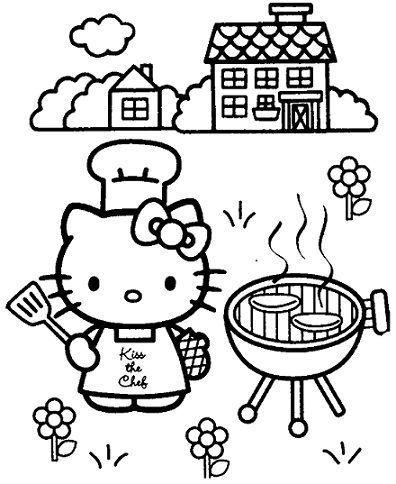nuevos dibujos de hello kitty para imprimir gratis