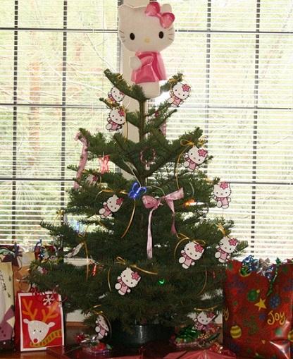 arbol de navidad de Hello Kitty  - Decoración de Navidad de Hello Kitty