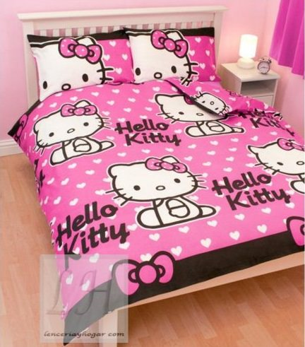 Fundas n rdicas baratas de hello kitty para el oto o - Cortinas de hello kitty ...