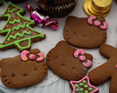 galletas de navidad de Hello Kitty  - Decoración de Navidad de Hello Kitty